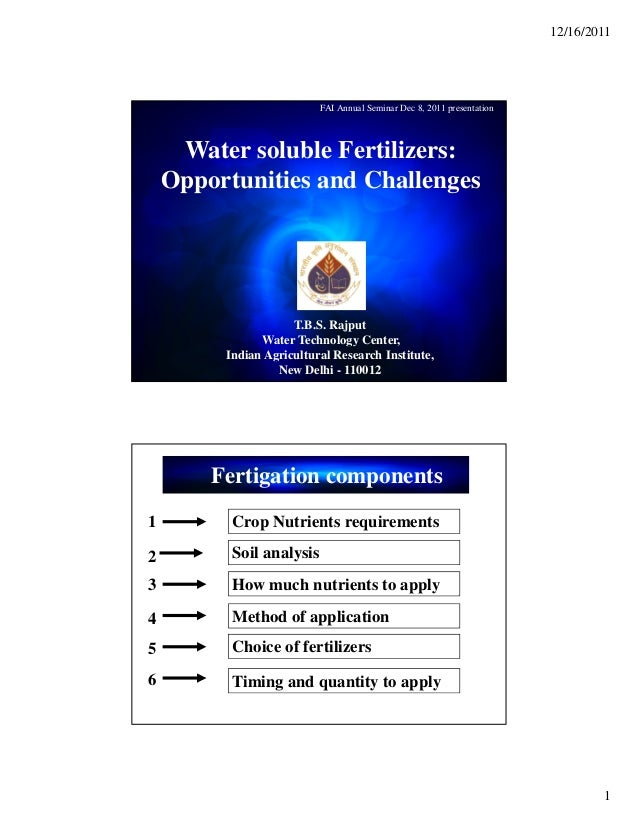 Water solubel fertilizers