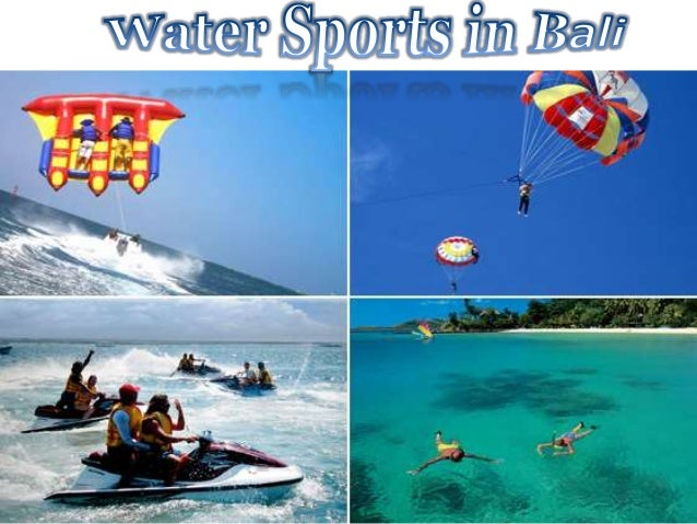 Bali's white sand stretches and relatively calm seas are perfect for water sports.