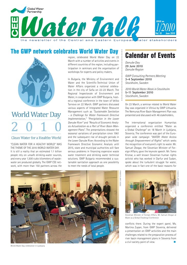 Vol. 10     June 2010     The GWP network celebrates World Water Day                                                      ...
