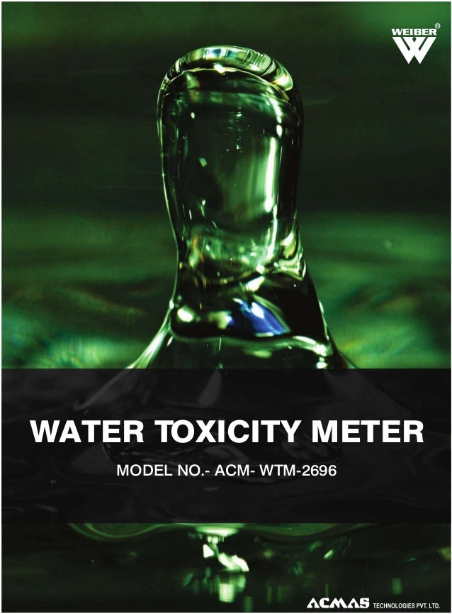 R  WATER TOXICITY METER MODEL NO.- ACM- WTM-2696