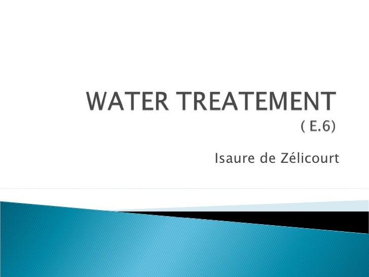 Water Treatement Presentation