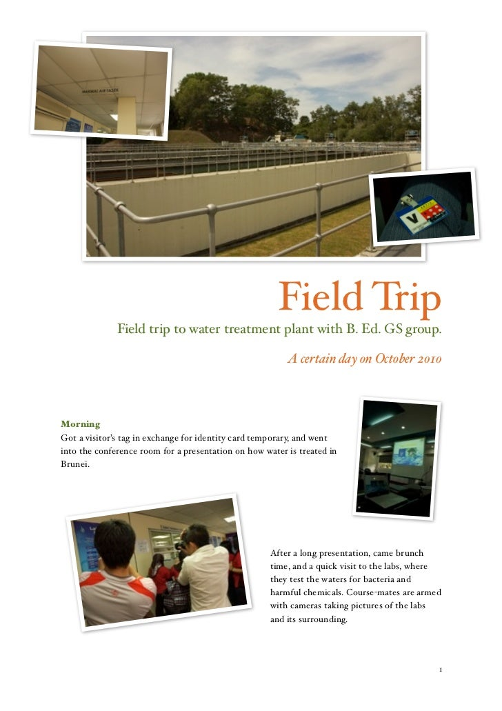 Field Trip                   Field trip to water treatment plant with B. Ed. GS group.                                    ...