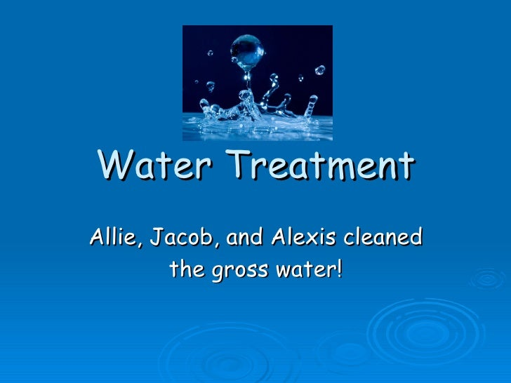 Water Treatmentmypart