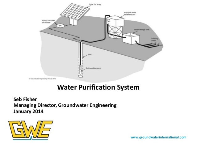 Photos here  Water Purification System Seb Fisher Managing Director, Groundwater Engineering January 2014  www.groundwater...