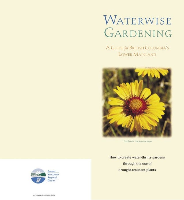 Waterwise Gardening: A Guide for British Columbia's Lower Mainland - Metro Vancouver