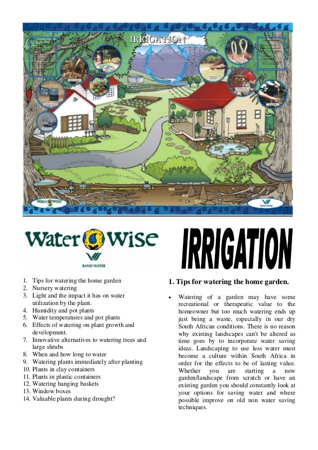 Water Wise Irrigation - Waterwise South Africa