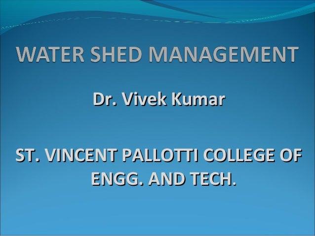 Wateshed management