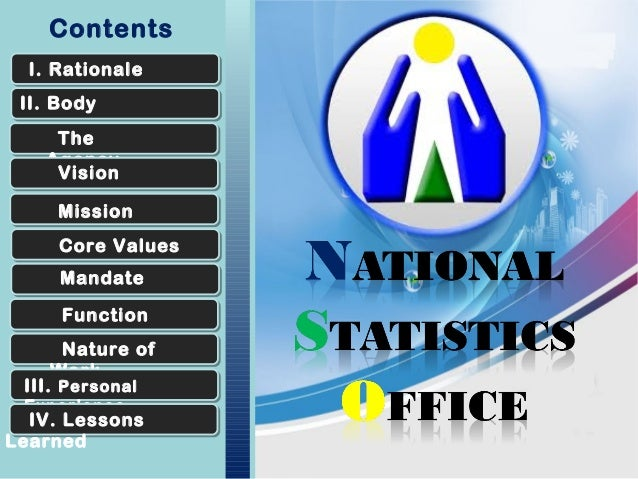 National Statistics Office: OJT presentation
