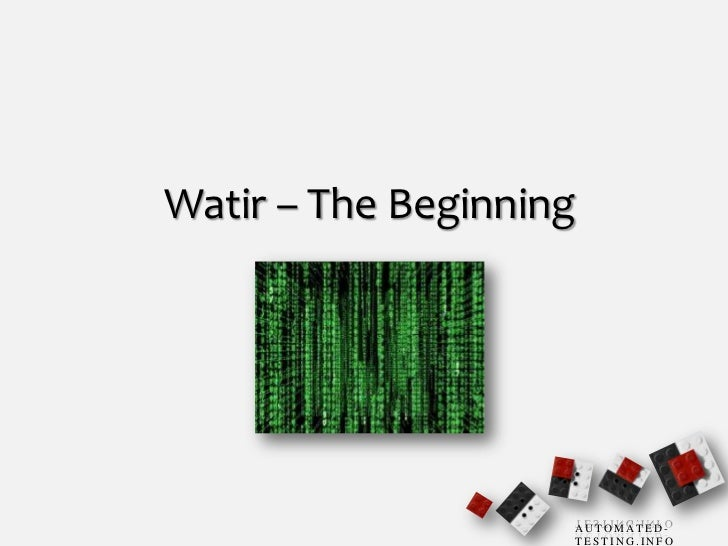 Watir - The Beginning