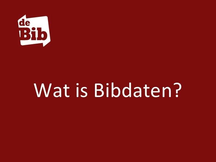 Wat is Bibdaten?