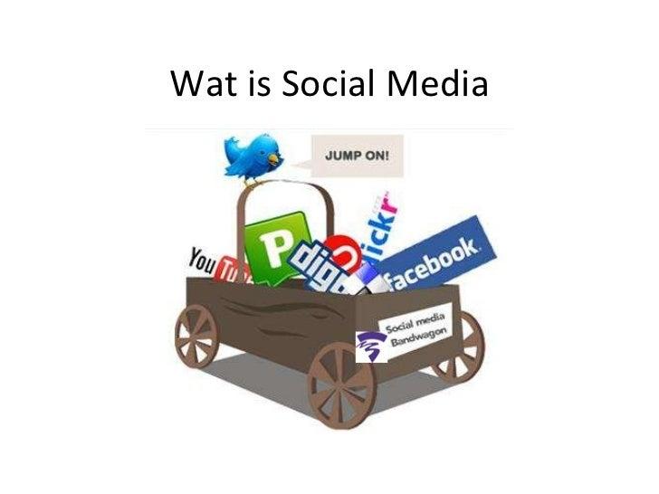 Wat is socialmedia