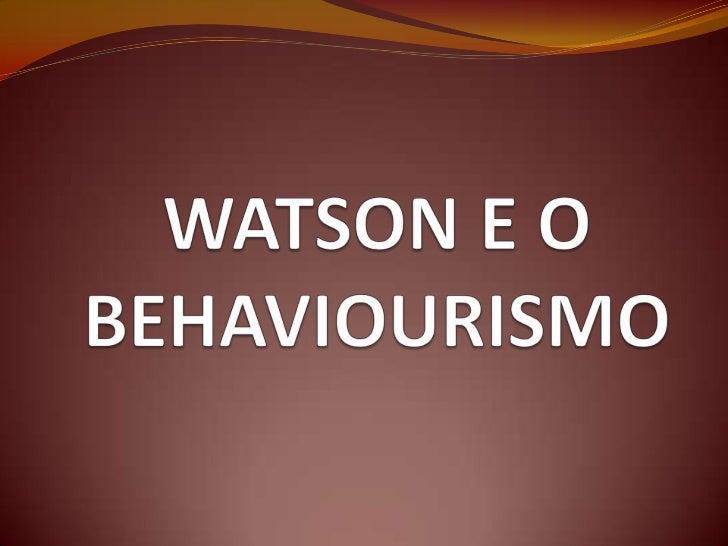 Objectivo deste autor: emancipação da Psicologia relativamente às restantes             áreas do saber   Só na condição d...