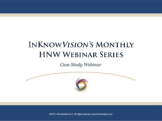 InKnowVision December 2013 Case Study - Watson FWGA