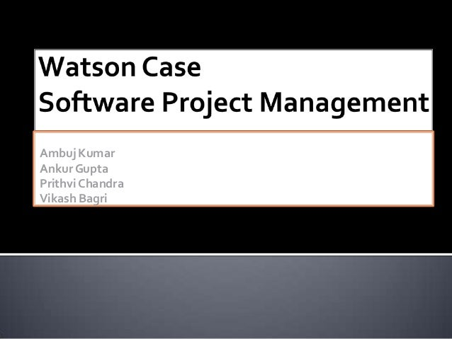 IBM Watson project recommendations.