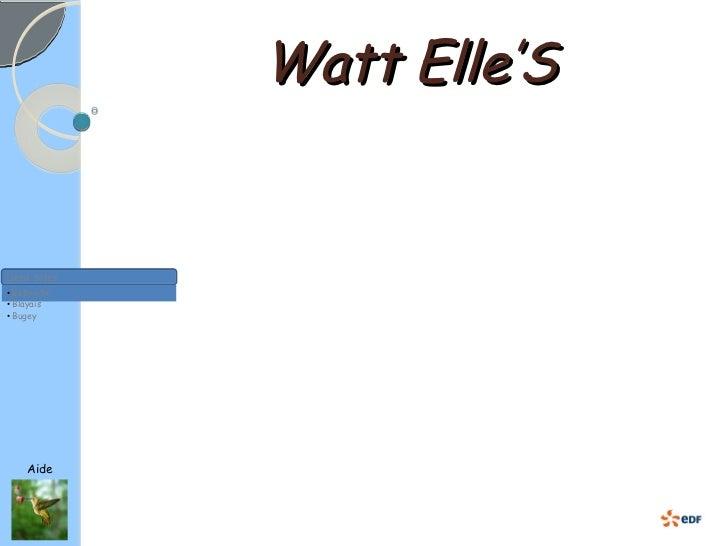 Watt  Elle'S Aide Liens Sites <ul><ul><li>Belleville </li></ul></ul><ul><ul><li>Blayais </li></ul></ul><ul><ul><li>Bugey <...