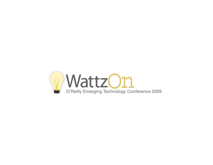 WattzOn @ ETech 2009