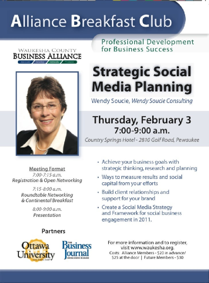 Strategic Social Media Planning - Waukesha County Business Alliance