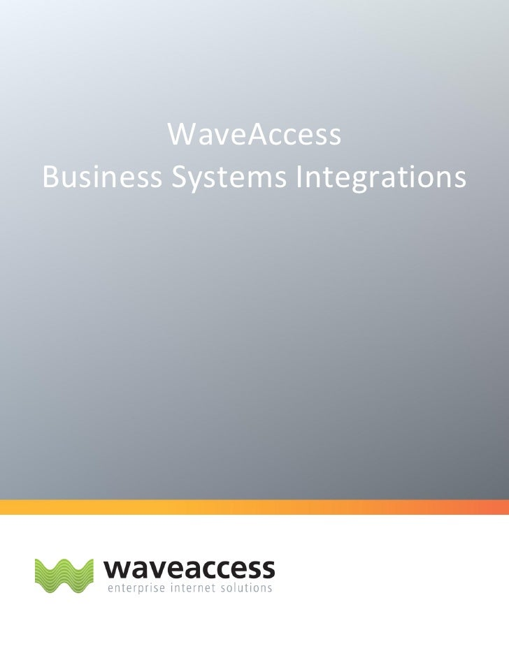 WaveAccess Business Systems Integrations