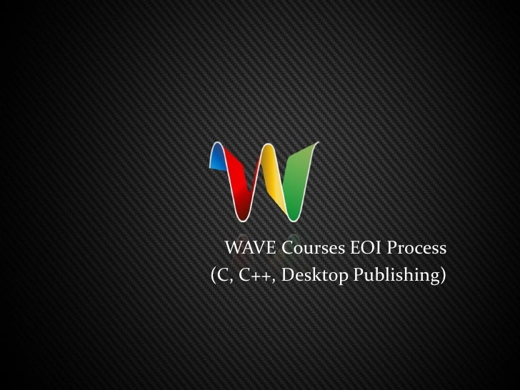 EOI Process for WAVE courses