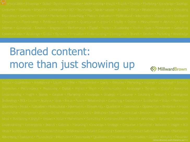 Branded content:more than just showing up                            [drive:directory pathfilename.ppt 1 ]