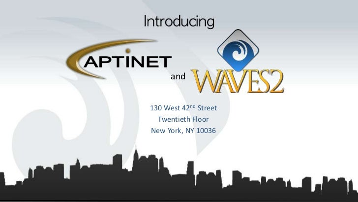 Waves2 Aptinet Overview
