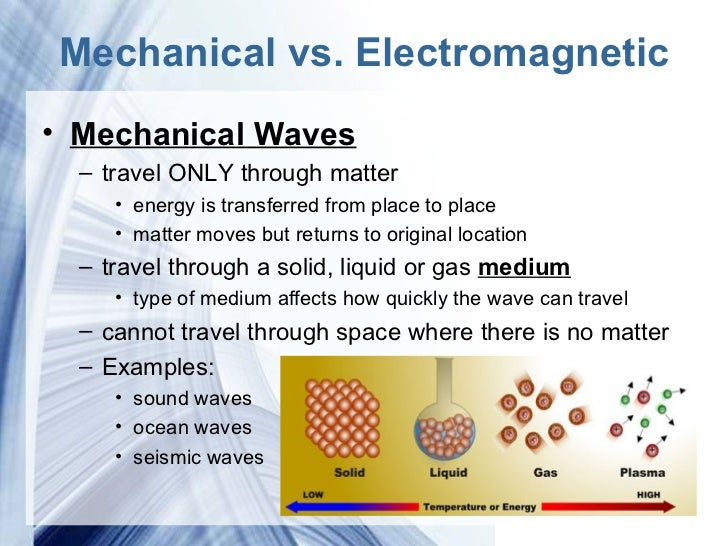 the mechanical and electromagnetic wave The answer is b the electromagnetic waves reach earth, while the mechanical waves do not electromagnetic waves have the capacity to travel in a vacuum through the vibration of the atoms around the sun mechanical waves however, need a medium in order to travel in a vacuum.