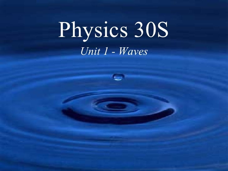 Waves in One Dimension