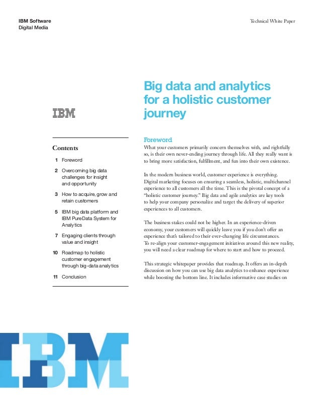 Big Data and analytics for a holistic customer journey