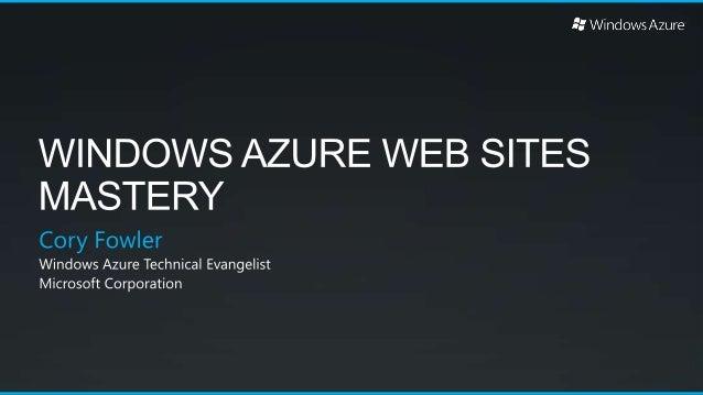 Windows Azure Web Sites Mastery