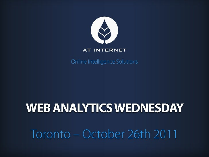 Web Analytics wednesday Toronto | AT INTERNET