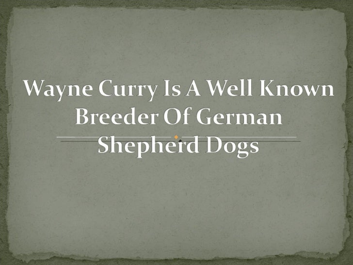 Wayne Curry, A Well Known Dog Breeder