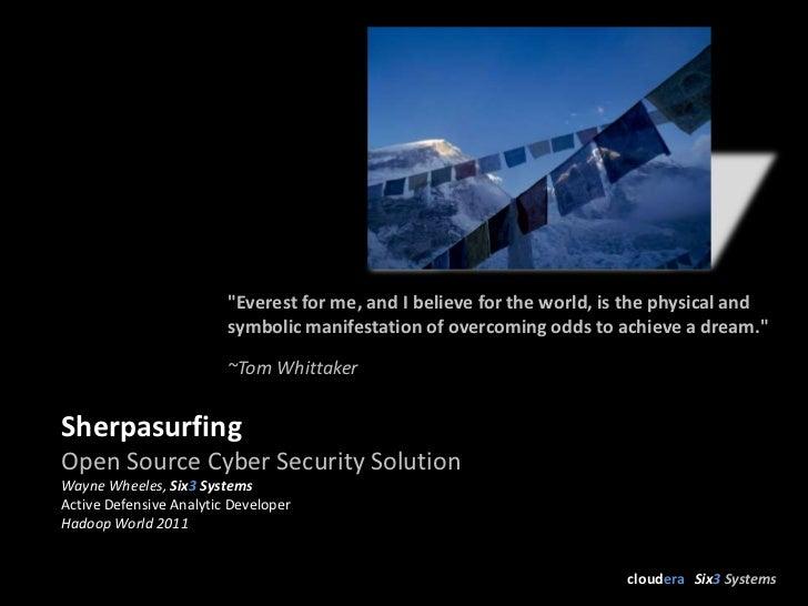 Hadoop World 2011: Sherpasurfing - Wayne Wheeles