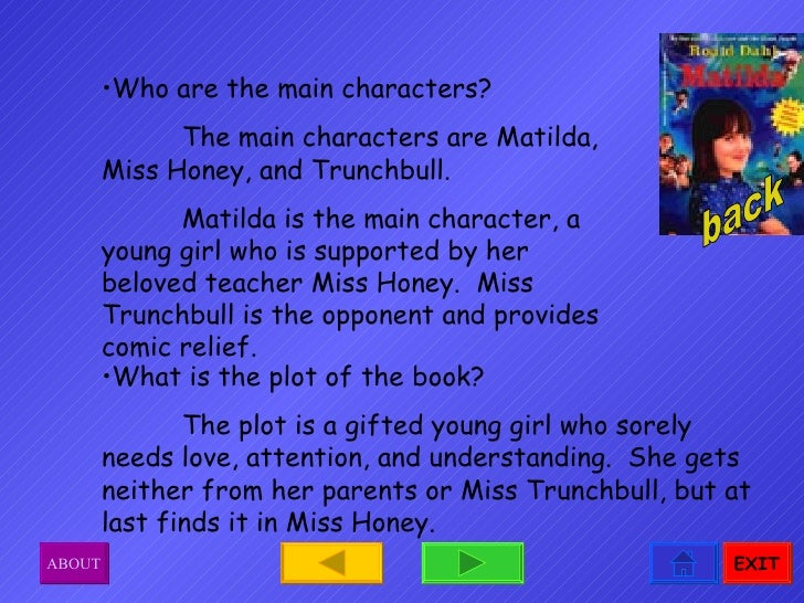 Main Character Book Report Projects Templates