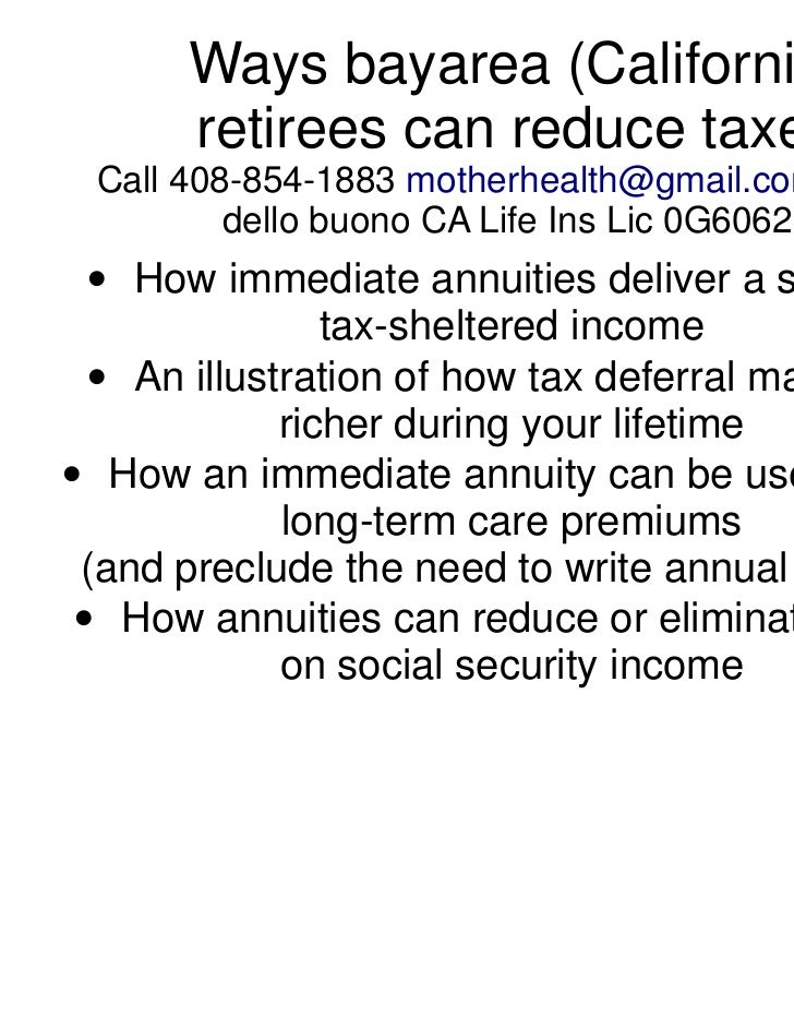 Ways california retirees can reduce taxes