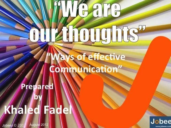Ways of effective communication (Basics of communication skills)
