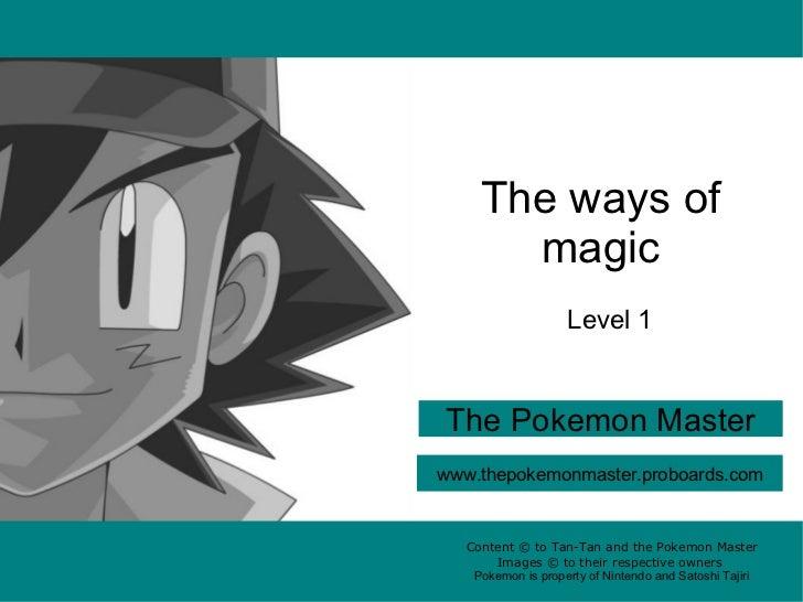 Ways of magic level 1