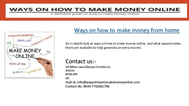 Ways On How To Make Money Online