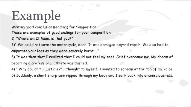 good ways to conclude a essay This handout will explain the functions of conclusions, offer strategies for writing effective ones, help you evaluate drafts, and suggest what to avoid they read your paper your conclusion gives your reader something to take away that will help them see things differently or appreciate your topic in personally relevant ways.