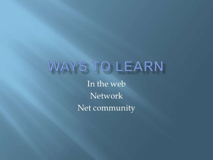In the web   NetworkNet community