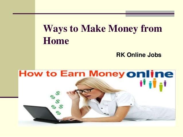 Work From Home Jobs UK, USA & worldwide - Make Money Oline