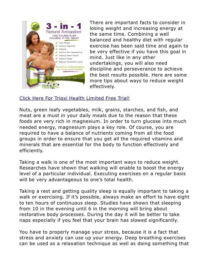 Ways To Reduce Weight - Trioxi Health