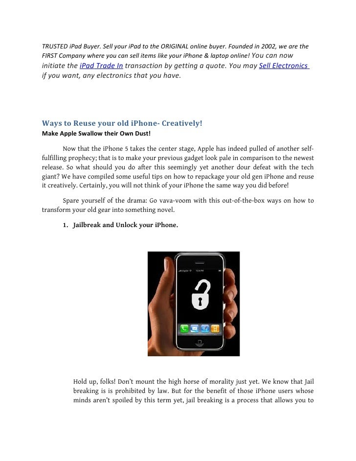 Ways to reuse your old i phone  creatively!