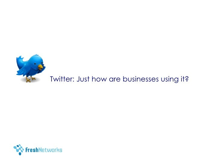 How organisations can use Twitter  - some ideas