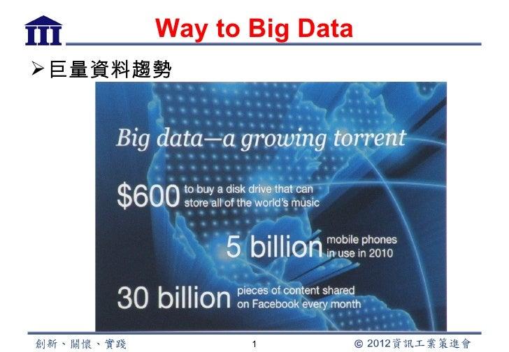 Way to Big Data 巨量資料趨勢              1