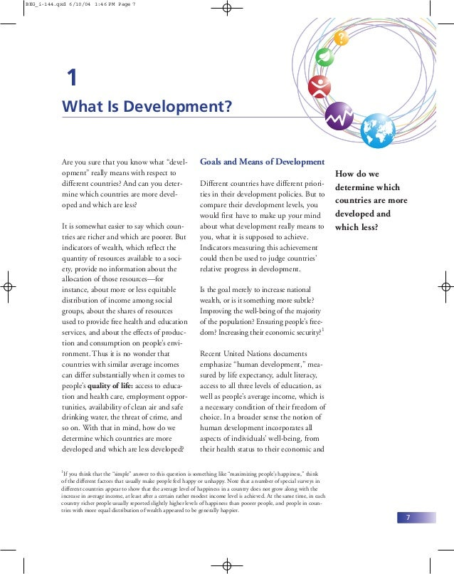 BEG_i-144.qxd 6/10/04 1:46 PM Page 7               1           What Is Development?           Are you sure that you know w...