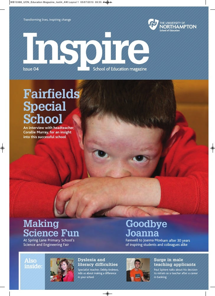 Transforming lives, inspiring change           Fairfields       Special       School       An interview with headteacher, ...