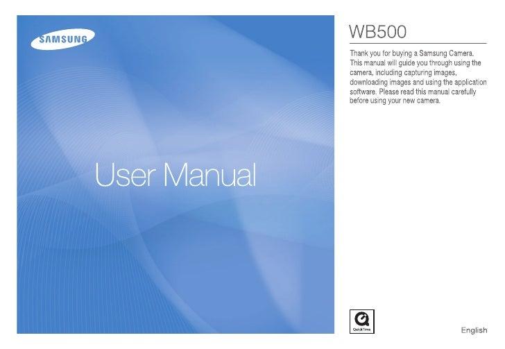 A manual Of Samsung Compact camera WB500