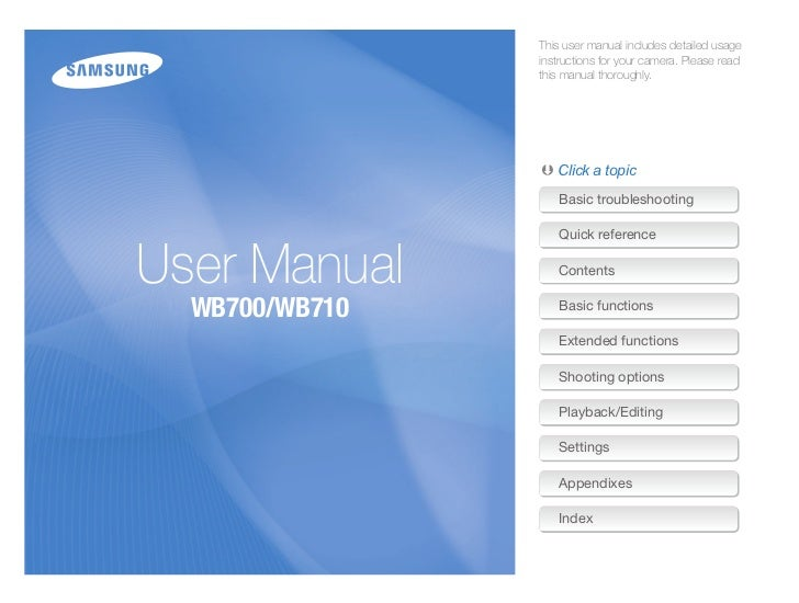 Wb700 & wb710 user manual