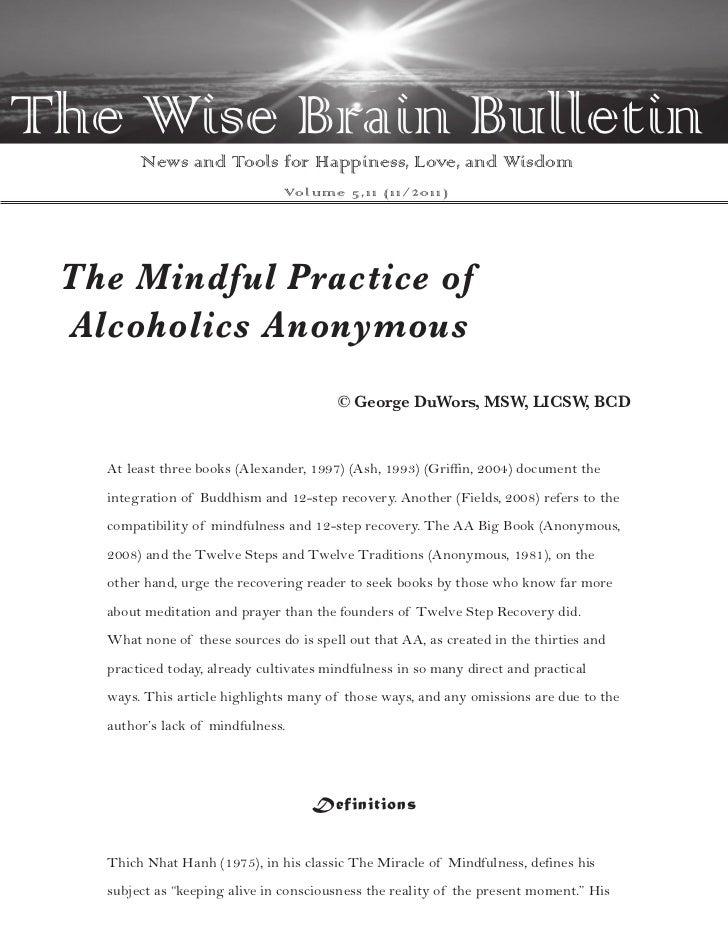 Wise Brain Bulletin - Issue 5.11