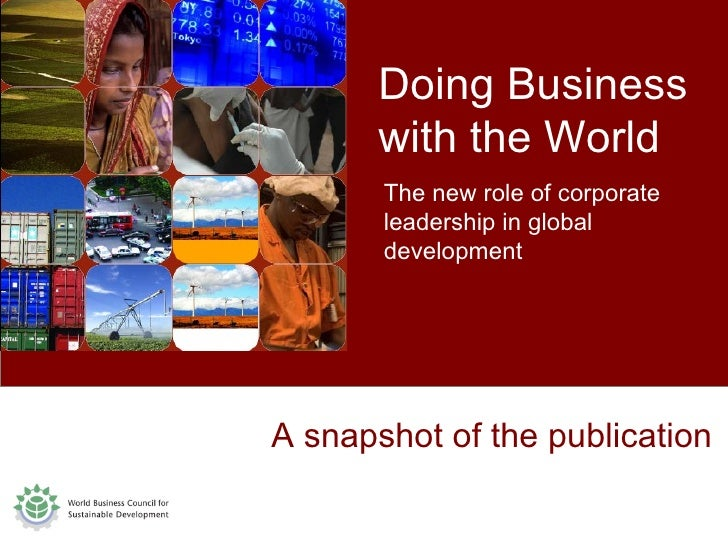 A snapshot of the publication Doing Business  with the World The new role of corporate leadership in global development